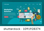 mock up design website flat... | Shutterstock .eps vector #1091928374