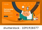 mock up design website flat... | Shutterstock .eps vector #1091928377