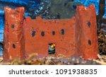 Small photo of Vintage Nativity figurine: the Herod castle.