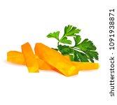 fresh  nutritious  tasty carrot ... | Shutterstock .eps vector #1091938871