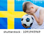 disappointed sweden national...   Shutterstock . vector #1091945969