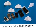 technology evolution concept....   Shutterstock . vector #1091953925