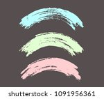 arched brush strokes  colorful... | Shutterstock .eps vector #1091956361