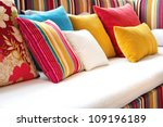 decorative pillow natural fabric | Shutterstock . vector #109196189