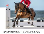 Stock photo horse jumping event show jumping sports 1091965727
