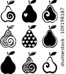 set of pears icon isolated on... | Shutterstock .eps vector #109198187