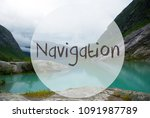 lake with mountains  norway ... | Shutterstock . vector #1091987789