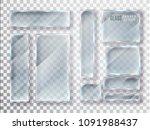 glass transparent plates set.... | Shutterstock .eps vector #1091988437