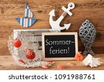 chalkboard with decoration ... | Shutterstock . vector #1091988761