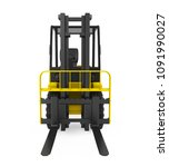 forklift truck isolated  front... | Shutterstock . vector #1091990027
