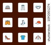 garment icons colored line set... | Shutterstock .eps vector #1092001274