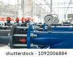 Row Of Plastic Pipes With Wate...