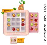 sudoku game for children with... | Shutterstock .eps vector #1092014291