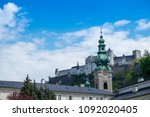 white clock tower have... | Shutterstock . vector #1092020405