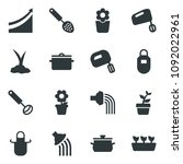 black vector icon set growth... | Shutterstock .eps vector #1092022961