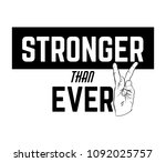 stronger than ever. quote... | Shutterstock .eps vector #1092025757