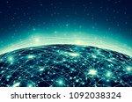 earth from space. best internet ... | Shutterstock . vector #1092038324