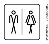 wc toilet door plate icon.... | Shutterstock . vector #1092039857