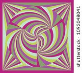 colorful geometric shawl  scarf ... | Shutterstock .eps vector #1092048041