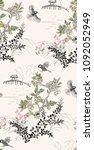 japanese chinese  vector design ... | Shutterstock .eps vector #1092052949
