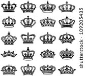 crown collection   vector... | Shutterstock .eps vector #109205435
