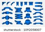 blue ribbon banners.decorative... | Shutterstock .eps vector #1092058007