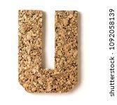 cork.alphabet.letter u  on... | Shutterstock . vector #1092058139