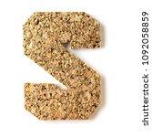 cork.alphabet.letter s  on... | Shutterstock . vector #1092058859