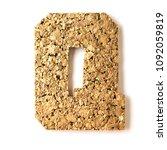 cork.alphabet.letter q  on... | Shutterstock . vector #1092059819