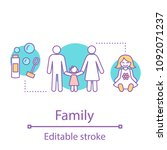family concept icon. parenthood ... | Shutterstock .eps vector #1092071237