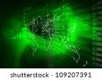 stock exchange graph | Shutterstock . vector #109207391
