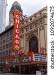 Small photo of CHICAGO, ILLINOIS, USA - MARCH 2016: Chicago, Illinois. Chicago Theater as a symbol of the cityIt is the first free municipal cultural center and one of the most comprehensive arts showcases in US.