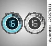 electronic digital stopwatch.... | Shutterstock .eps vector #1092078851