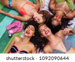 group of laughing female...   Shutterstock . vector #1092090644