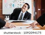 business  a man boss talking to ...   Shutterstock . vector #1092094175