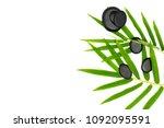 zen basalt stones and bamboo on ...   Shutterstock . vector #1092095591