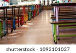the tables and chairs in the... | Shutterstock . vector #1092101027