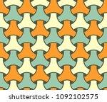 japanese seamless wicker... | Shutterstock .eps vector #1092102575
