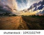 a work in progress highway... | Shutterstock . vector #1092102749