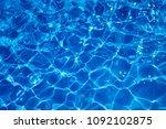 rippled water detail background | Shutterstock . vector #1092102875