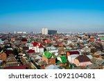 top view of the city krasnodar  ... | Shutterstock . vector #1092104081