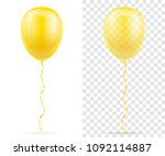 celebratory yellow transparent... | Shutterstock .eps vector #1092114887