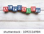 the word  alphabet  spelled...   Shutterstock . vector #1092116984