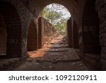 view of through the ancient... | Shutterstock . vector #1092120911