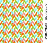 colorful geometric seamless ... | Shutterstock .eps vector #1092127679