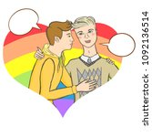 vector illustration of two gay... | Shutterstock .eps vector #1092136514