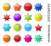 starburst shapes. circle star... | Shutterstock .eps vector #1092136919