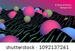 abstract wave and particle...   Shutterstock .eps vector #1092137261