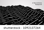 abstract wave and particle...   Shutterstock .eps vector #1092137264