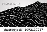 abstract wave and particle...   Shutterstock .eps vector #1092137267